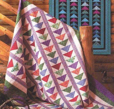 FLYING GEESE PATTERN QUILT